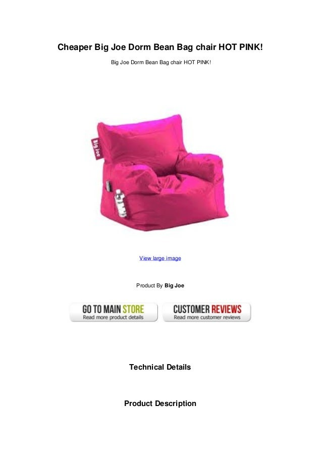 Cheaper Big Joe Dorm Bean Bag chair HOT PINK!Big Joe Dorm Bean Bag chair ...  sc 1 st  SlideShare : big joe bean bag chair pink - Cheerinfomania.Com