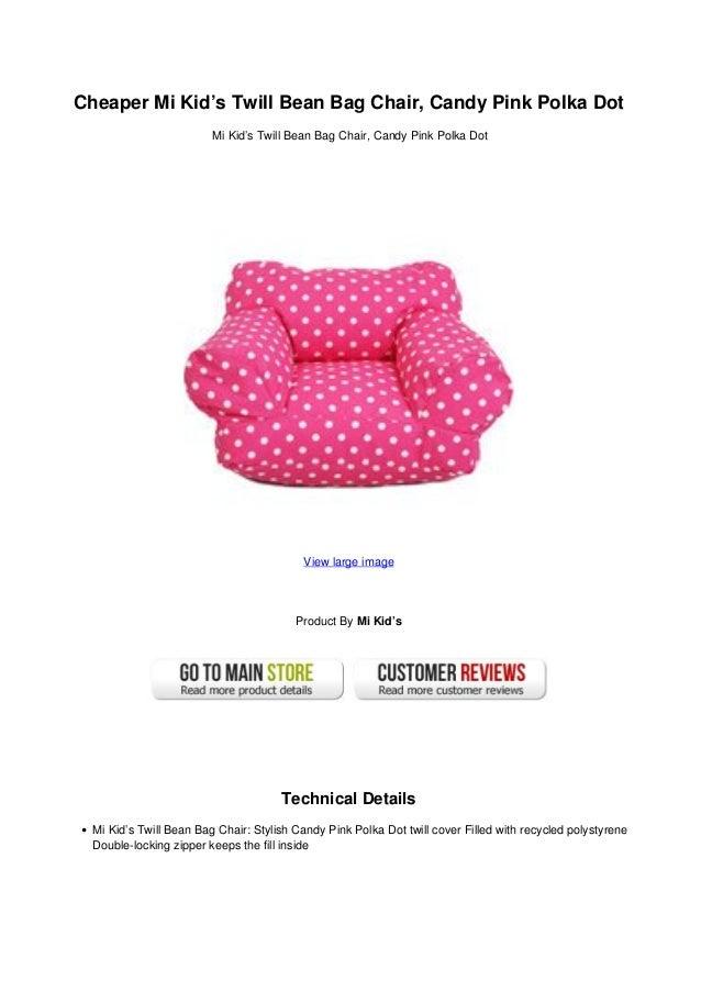 Superb Cheaper Mi Kids Twill Bean Bag Chair Candy Pink Polka Dot Beatyapartments Chair Design Images Beatyapartmentscom