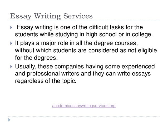 Cheapest essay writing serivce