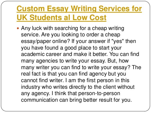 Fast cheap essays