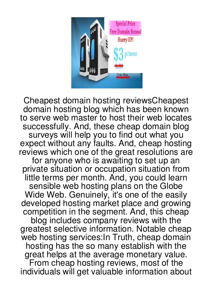 Cheapest domain hosting reviewsCheapest  domain hosting blog which has been knownto serve web master to host their web loc...