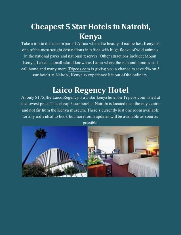 Cheapest 5 star Hotels in Kenya