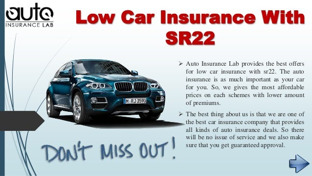 Find Out Cheapest Car Insurance With SR22 And Get Low Prices