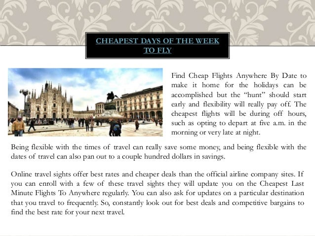 what is the cheapest day to fly international