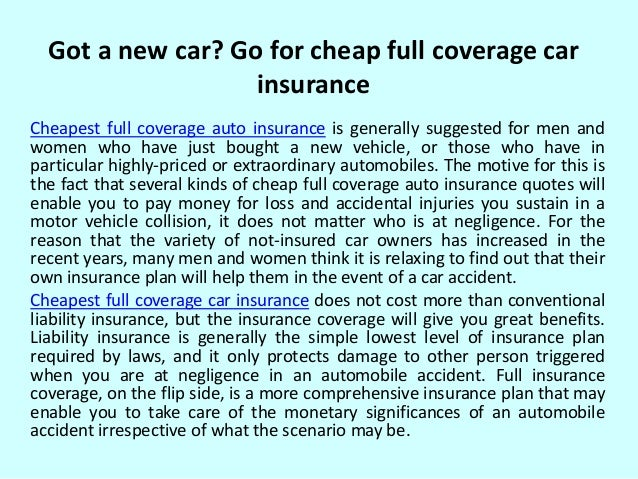 Cheap full coverage auto insurance quotes top