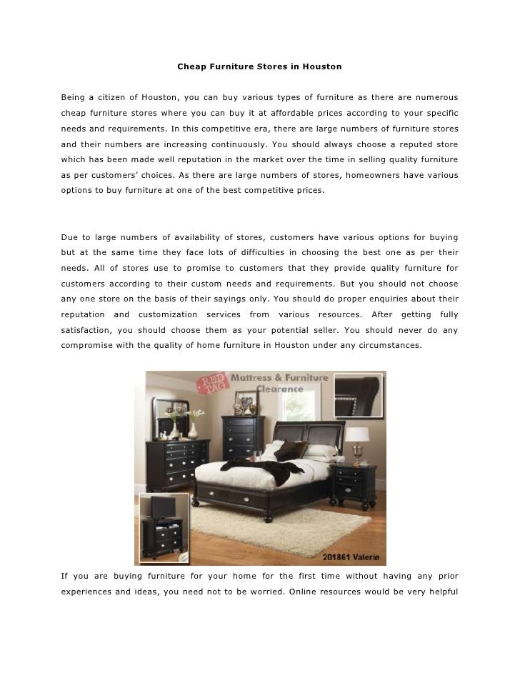 Cheap Furniture Stores In Houston