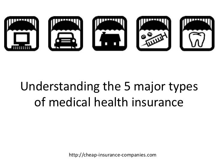 Understanding the 5 major types  of medical health insurance        http://cheap-insurance-companies.com
