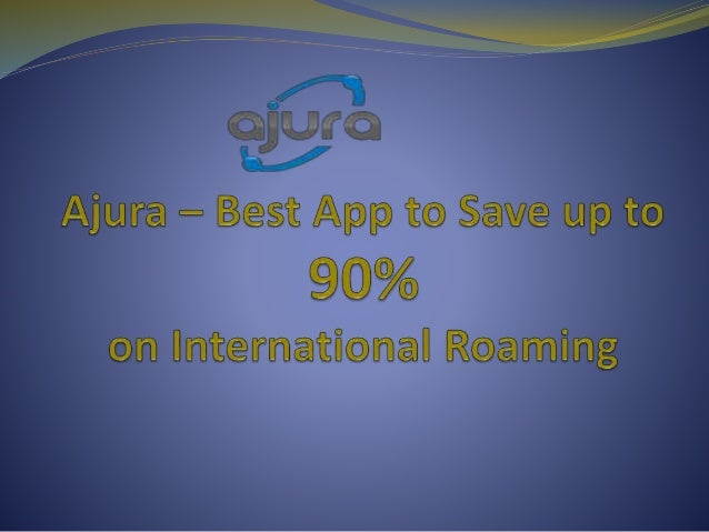 About Ajura App Ajura is a mobile app that helps to reduce charges on international roaming. With the help of Ajura you ca...
