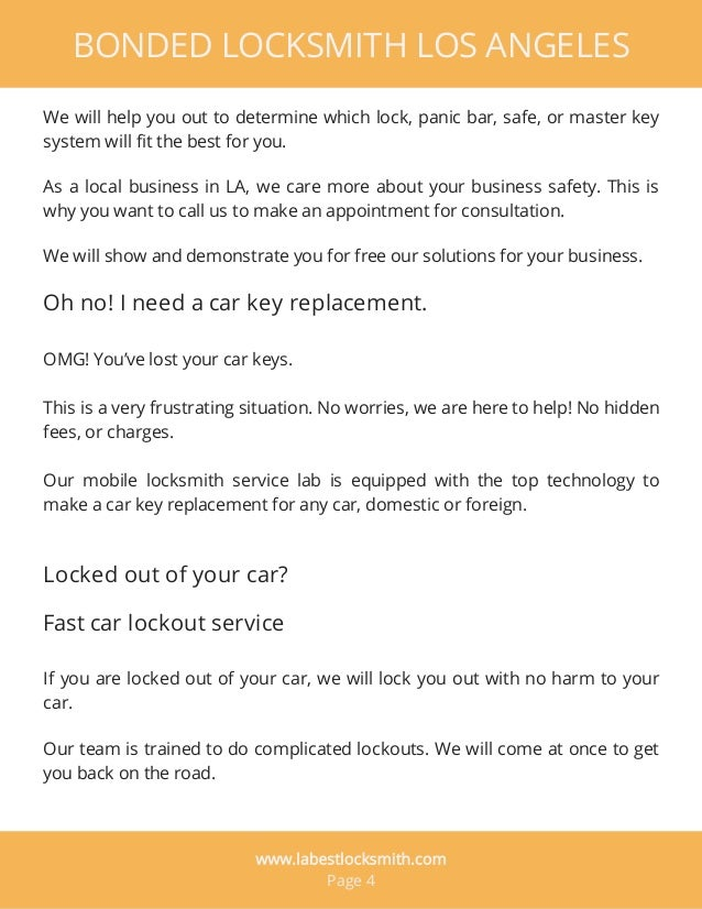 As a local business in LA, we care more about your business safety. This is why you want to call us to make an appointment...