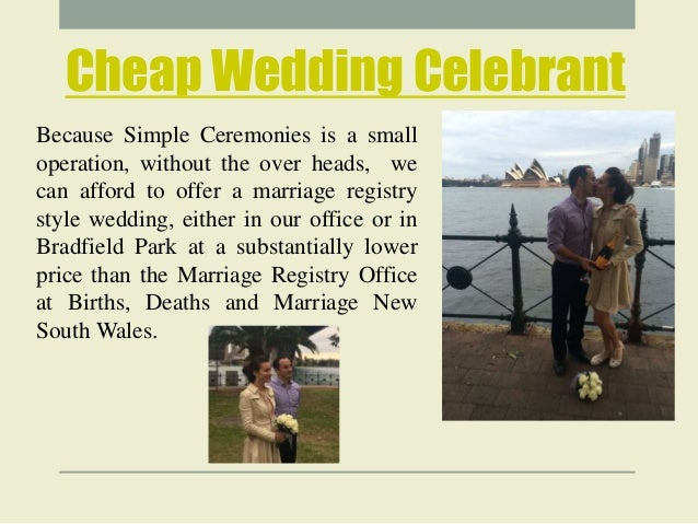 Cheap Marriage Celebrant Sydney