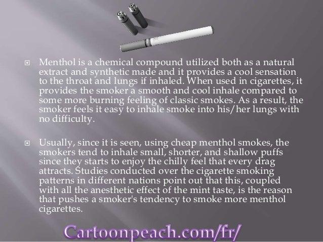 Cheap menthol cigarettes vs classic cigarettes