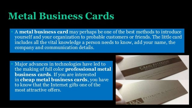 Cheap metal business cards the great combination between level of qu metal business cards reheart Gallery