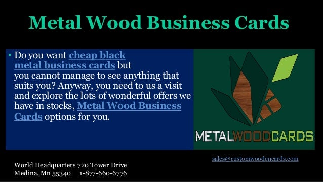 Cheap metal business cards the great combination between level of qu 5 metal wood business cards reheart Images