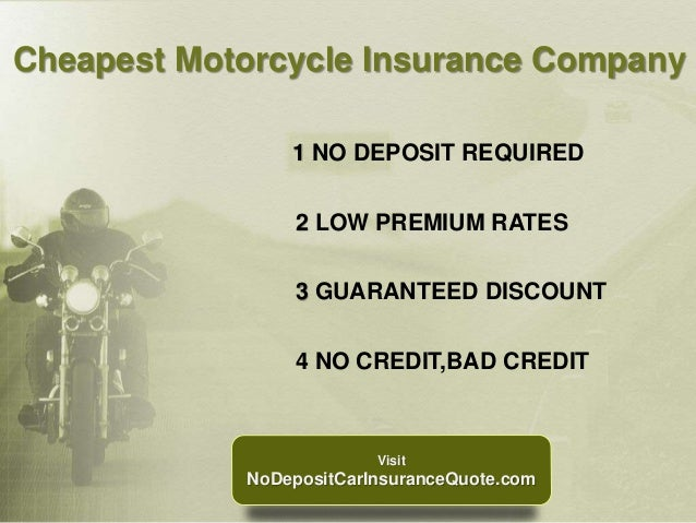 No Deposit Motorcycle Insurance