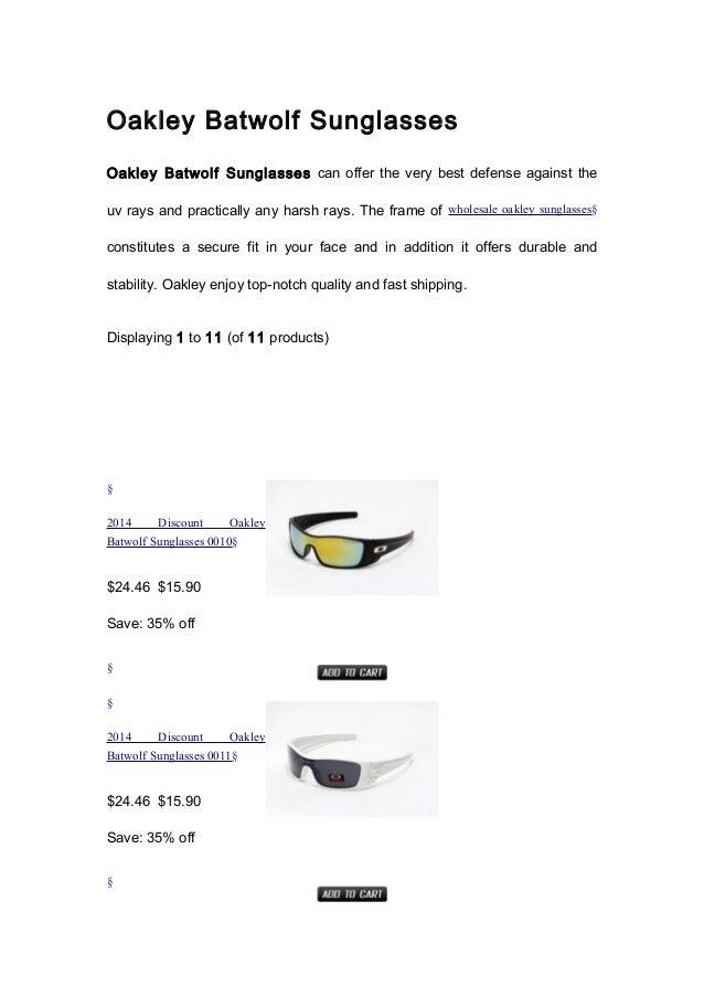 cheap oakley batwolf sunglasses rh slideshare net