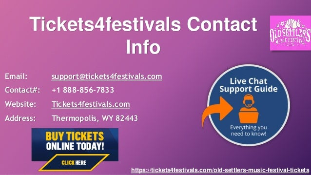 Old Settler's Music Festival Tickets from Tickets4Festivals
