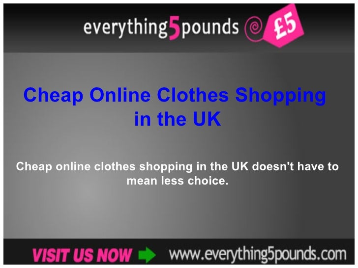 Shop cheap clothes online uk