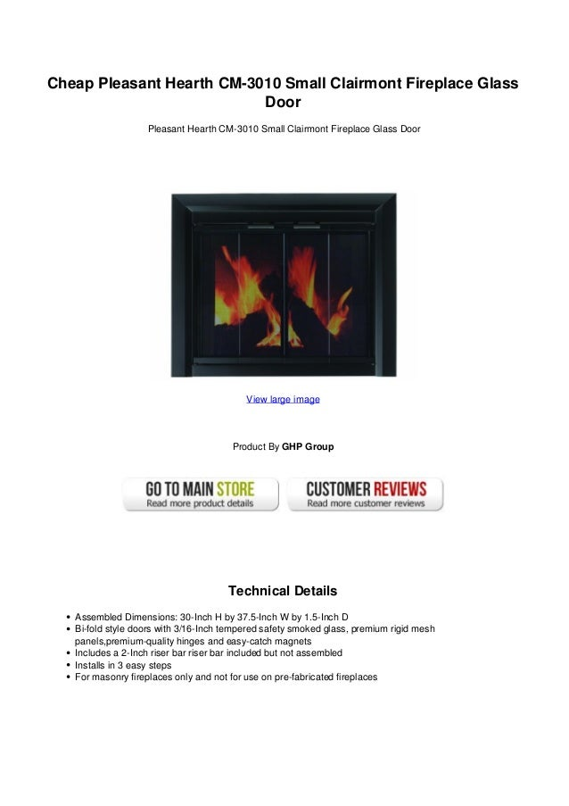 Cheap Pleasant Hearth Cm 3010 Small Clairmont Fireplace Glass Door