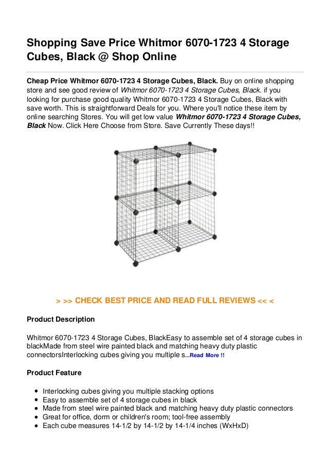 Shopping Save Price Whitmor 6070-1723 4 StorageCubes, Black @ Shop OnlineCheap Price Whitmor 6070-1723 4 Storage Cubes, Bl...