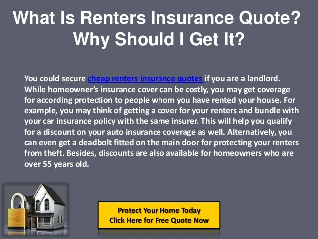 Cheap Renters Insurance Quotes Online