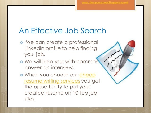 Cheap Resume Writing Services