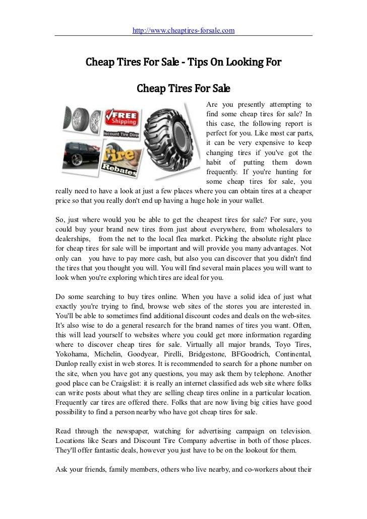 Cheap Tire Places >> Cheap Tires For Sale