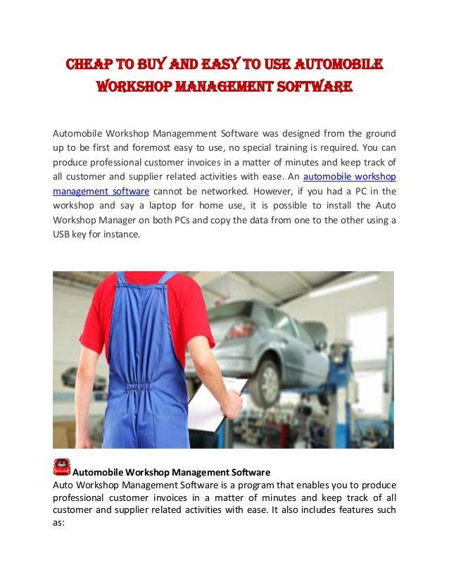 automobile service software