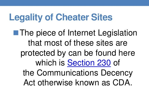 communications decency act essay Tucked away in title v of the telecommunications act was a provision that granted such as that contained in section 230 of the communications decency act.