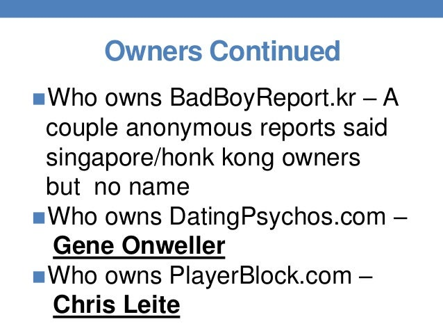 Who owns datingpsychos