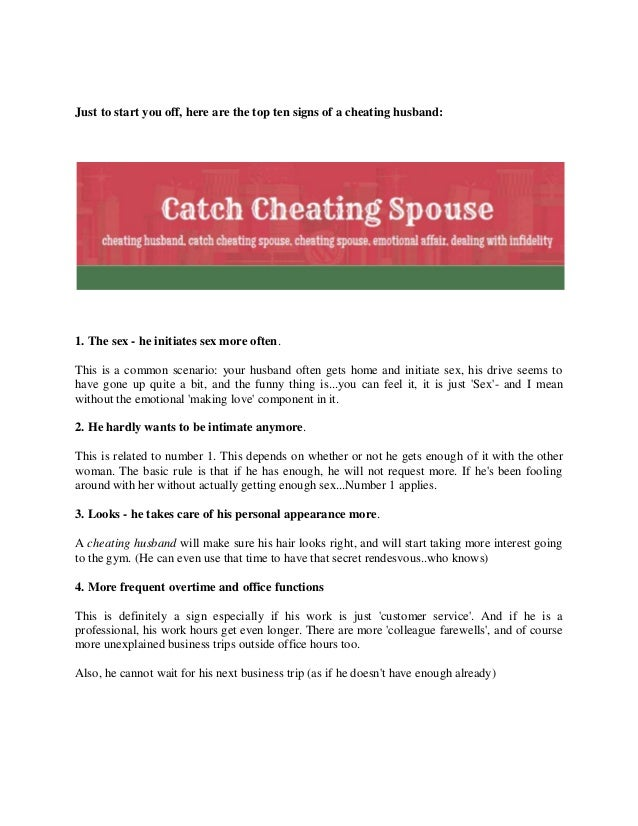 Ways To Know Your Spouse Is Cheating