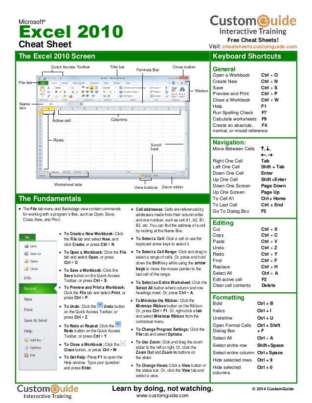 Cheat sheet windows complete xp 7 8 for Cheat sheet template excel
