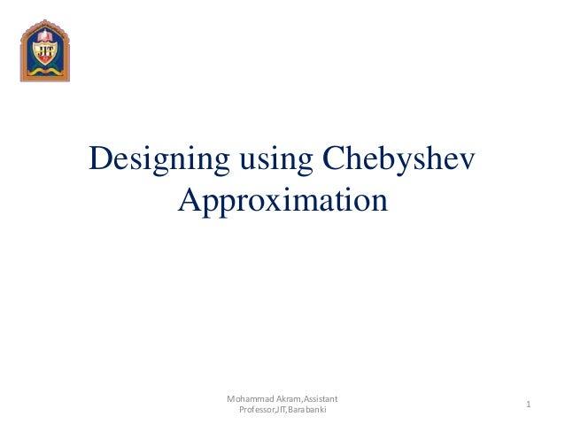 Chebyshev filter