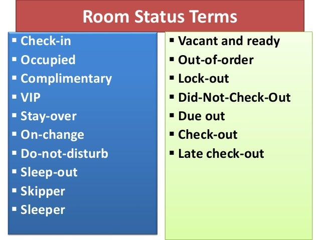 Check-out & settlement procedure in hotel front office