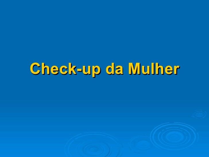 Check-up da Mulher