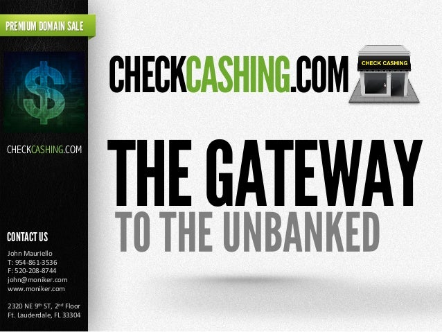 THEGATEWAY PREMIUM DOMAIN SALE CONTACT US John	   Mauriello	    T:	   954-­‐861-­‐3536	    F:	   520-­‐208-­‐8744	    john...