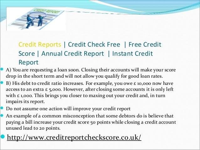 annual credit score reports