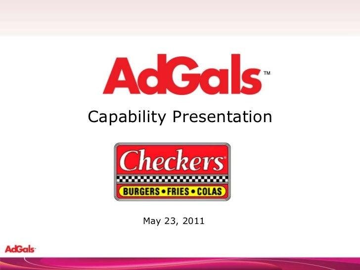 Capability Presentation May 23, 2011