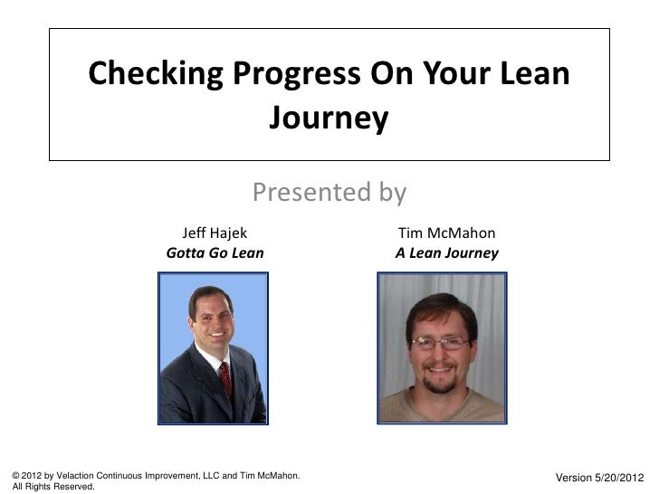 Checking Progress On Your Lean                           Journey                                                     Prese...