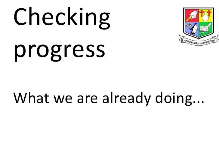 Checking progress amp new staff 020712