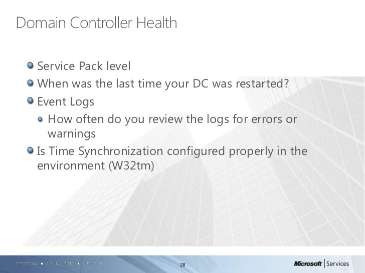 Checking the health of your active directory enviornment