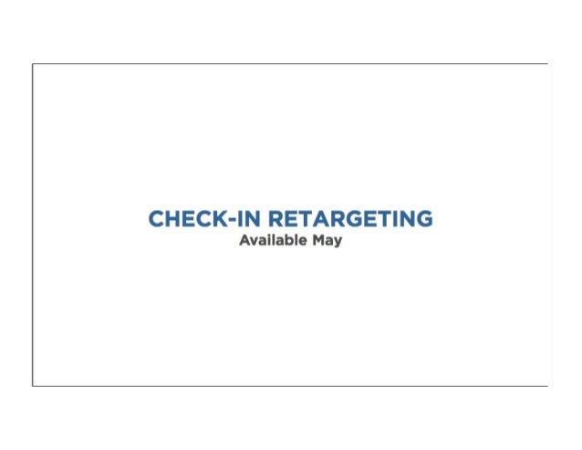 Foursquare Check in retargetting