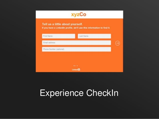 Experience CheckIn
