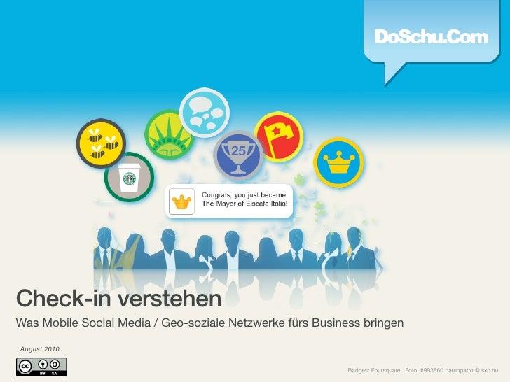 Check-in verstehen • Was Mobile Social Media / Geo-soziale Netzwerke fürs Business bringen
