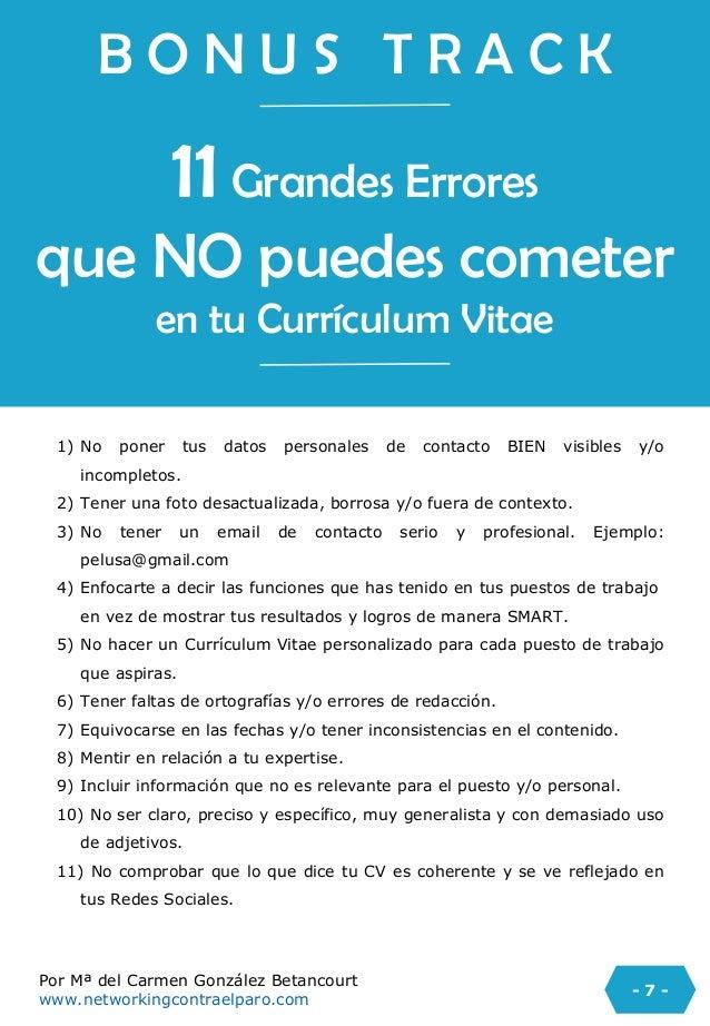Check list para tu curriculum vitae