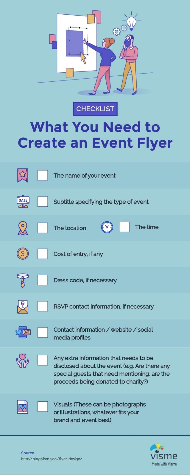 infographic checklist what you need to create an event flyer