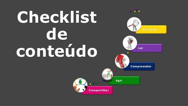 Checklistde conteúdoCompartilharAgir  CompreenderLerEncontrar