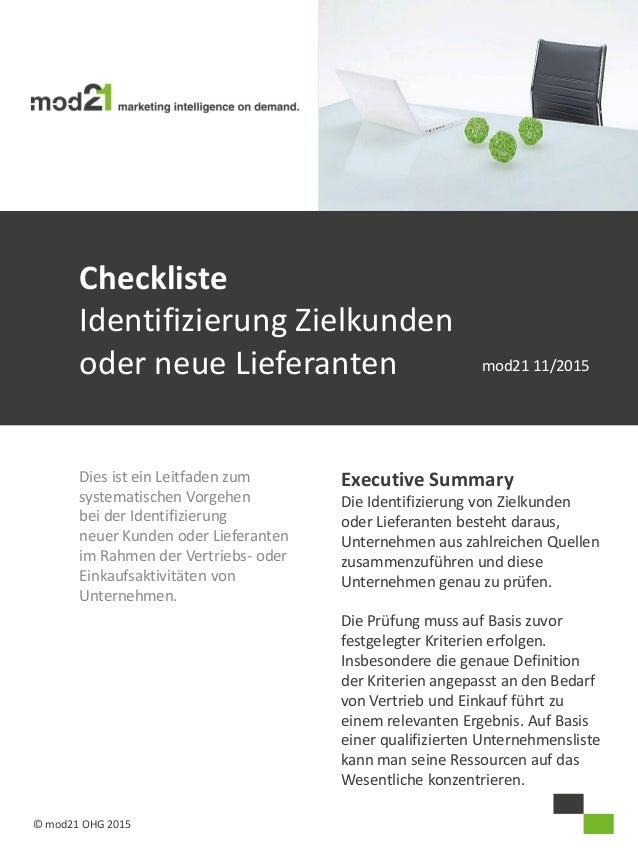 Dies ist ein Leitfaden zum systematischen Vorgehen bei der Identifizierung neuer Kunden oder Lieferanten im Rahmen der Ver...