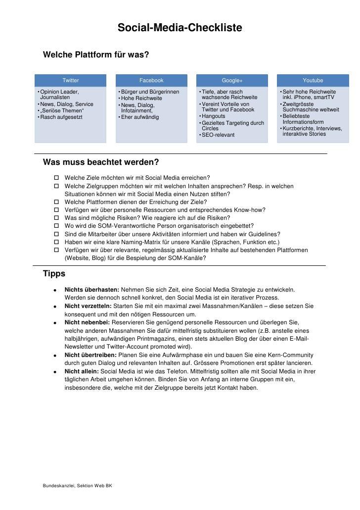 Social-Media-Checkliste  Welche Plattform für was?          Twitter                         Facebook                      ...