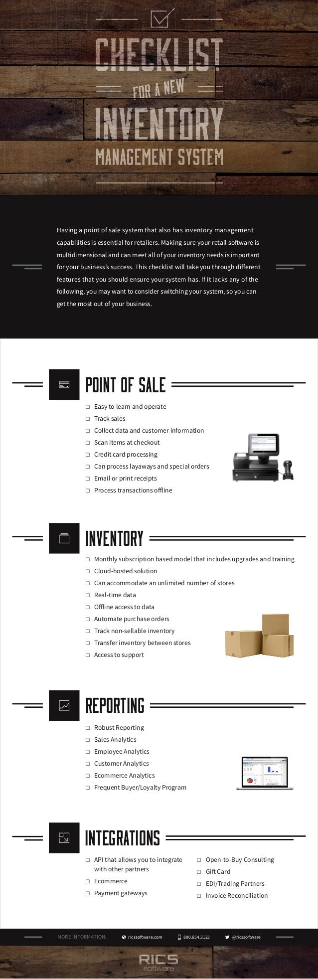 ricssoftware.com 800.654.3123 Having a point of sale system that also has inventory management capabilities is essential f...