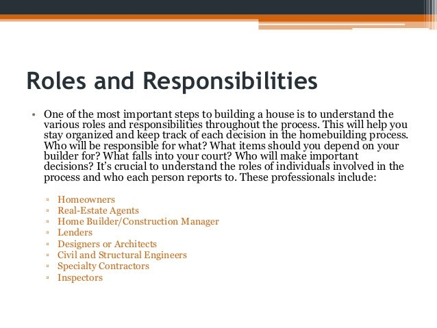 Checklist for building a house for Homeowner s checklist for building a house